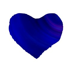 Blue Background Abstract Blue Standard 16  Premium Heart Shape Cushions