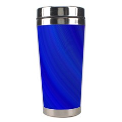 Blue Background Abstract Blue Stainless Steel Travel Tumblers by Nexatart
