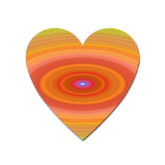 Ellipse Background Orange Oval Heart Magnet by Nexatart
