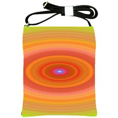 Ellipse Background Orange Oval Shoulder Sling Bags by Nexatart