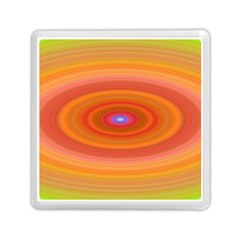Ellipse Background Orange Oval Memory Card Reader (square)
