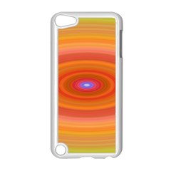Ellipse Background Orange Oval Apple Ipod Touch 5 Case (white) by Nexatart