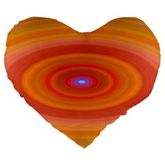 Ellipse Background Orange Oval Large 19  Premium Heart Shape Cushions by Nexatart