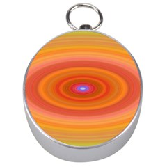 Ellipse Background Orange Oval Silver Compasses by Nexatart