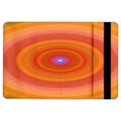 Ellipse Background Orange Oval Ipad Air 2 Flip