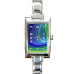 Space Design Abstract Sky Storm Rectangle Italian Charm Watch by Nexatart