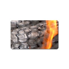 Fireplace Flame Burn Firewood Magnet (name Card) by Nexatart