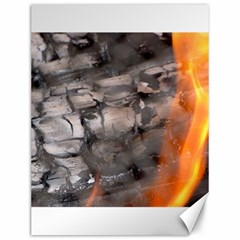 Fireplace Flame Burn Firewood Canvas 12  X 16