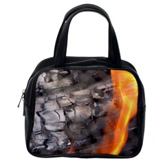 Fireplace Flame Burn Firewood Classic Handbags (one Side) by Nexatart