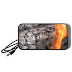 Fireplace Flame Burn Firewood Portable Speaker (black) by Nexatart