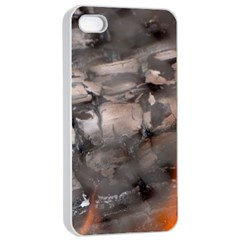 Fireplace Flame Burn Firewood Apple Iphone 4/4s Seamless Case (white)