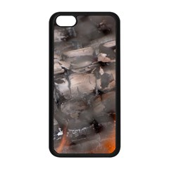 Fireplace Flame Burn Firewood Apple Iphone 5c Seamless Case (black)