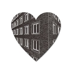 Graphics House Brick Brick Wall Heart Magnet by Nexatart