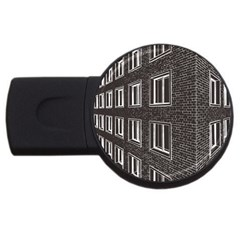 Graphics House Brick Brick Wall Usb Flash Drive Round (2 Gb)