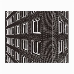 Graphics House Brick Brick Wall Small Glasses Cloth (2 Side) by Nexatart