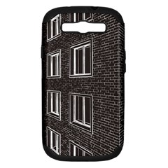 Graphics House Brick Brick Wall Samsung Galaxy S Iii Hardshell Case (pc+silicone) by Nexatart