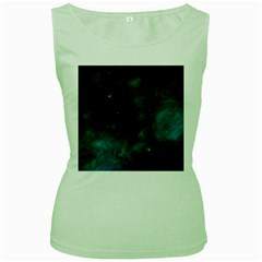 Space All Universe Cosmos Galaxy Women s Green Tank Top