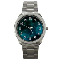Space All Universe Cosmos Galaxy Sport Metal Watch by Nexatart
