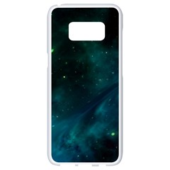 Space All Universe Cosmos Galaxy Samsung Galaxy S8 White Seamless Case by Nexatart