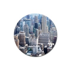 Manhattan New York City Magnet 3  (round)