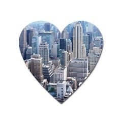 Manhattan New York City Heart Magnet