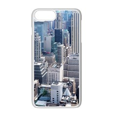 Manhattan New York City Apple Iphone 7 Plus White Seamless Case