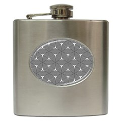 Seamless Weave Ribbon Hexagonal Hip Flask (6 Oz)