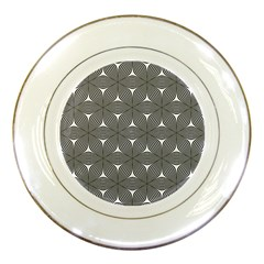 Seamless Weave Ribbon Hexagonal Porcelain Plates