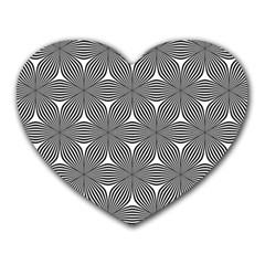Seamless Weave Ribbon Hexagonal Heart Mousepads