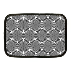 Seamless Weave Ribbon Hexagonal Netbook Case (medium)