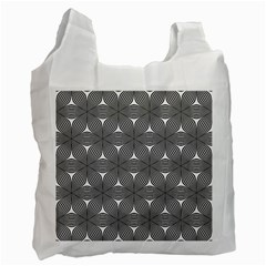 Seamless Weave Ribbon Hexagonal Recycle Bag (one Side)