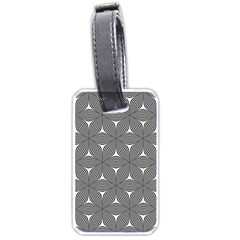 Seamless Weave Ribbon Hexagonal Luggage Tags (one Side)