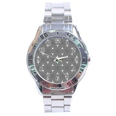 Seamless Weave Ribbon Hexagonal Stainless Steel Analogue Watch
