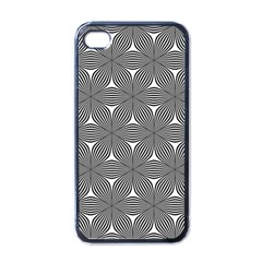 Seamless Weave Ribbon Hexagonal Apple Iphone 4 Case (black)