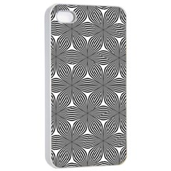 Seamless Weave Ribbon Hexagonal Apple Iphone 4/4s Seamless Case (white)