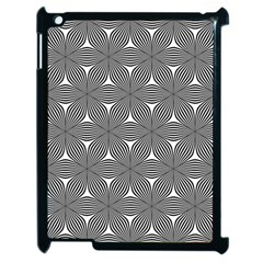 Seamless Weave Ribbon Hexagonal Apple Ipad 2 Case (black)