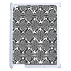 Seamless Weave Ribbon Hexagonal Apple Ipad 2 Case (white)