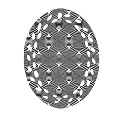 Seamless Weave Ribbon Hexagonal Oval Filigree Ornament (two Sides)