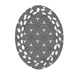 Seamless Weave Ribbon Hexagonal Oval Filigree Ornament (Two Sides) Front