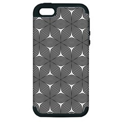 Seamless Weave Ribbon Hexagonal Apple Iphone 5 Hardshell Case (pc+silicone)