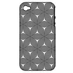 Seamless Weave Ribbon Hexagonal Apple Iphone 4/4s Hardshell Case (pc+silicone)