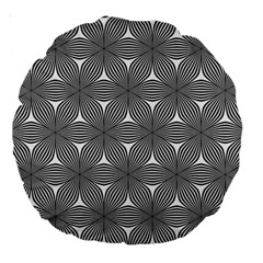 Seamless Weave Ribbon Hexagonal Large 18  Premium Round Cushions