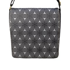 Seamless Weave Ribbon Hexagonal Flap Messenger Bag (l)