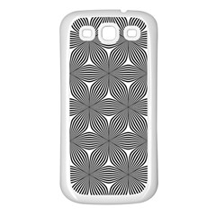 Seamless Weave Ribbon Hexagonal Samsung Galaxy S3 Back Case (white)