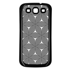 Seamless Weave Ribbon Hexagonal Samsung Galaxy S3 Back Case (black)