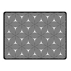 Seamless Weave Ribbon Hexagonal Double Sided Fleece Blanket (small)
