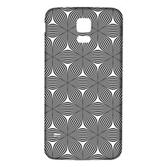 Seamless Weave Ribbon Hexagonal Samsung Galaxy S5 Back Case (white)