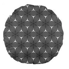 Seamless Weave Ribbon Hexagonal Large 18  Premium Flano Round Cushions