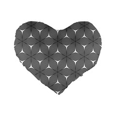 Seamless Weave Ribbon Hexagonal Standard 16  Premium Flano Heart Shape Cushions