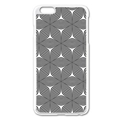 Seamless Weave Ribbon Hexagonal Apple Iphone 6 Plus/6s Plus Enamel White Case